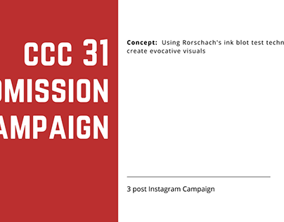 CCC 31 Admission Campaign   Additional Work