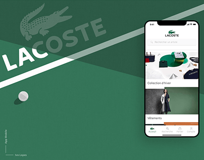 Lacoste app Redesign
