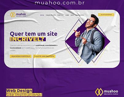 Web Site Institucional Muahoo - UI Design - Web Design