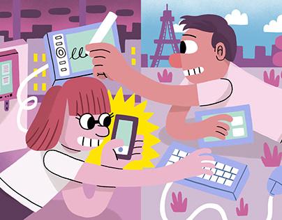 People Powered - The Economist/ Cisco Webex animations