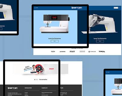 Sercan Makina - Industrial Web Site Design