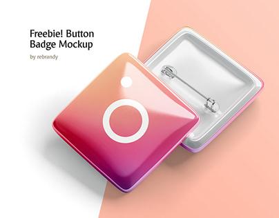 Freebie! Button Badge Mockup