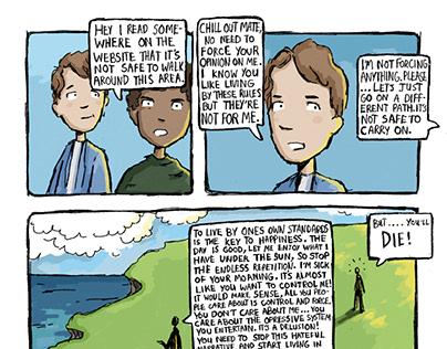 Comic panel - Blindness