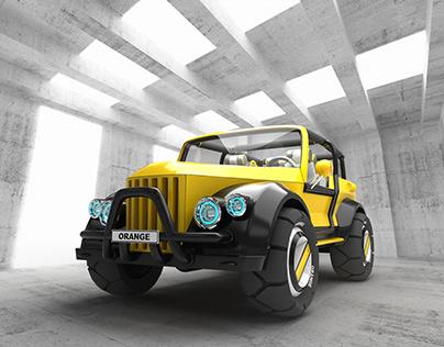 Beach jeep based on the GAZ-69 (Concept)