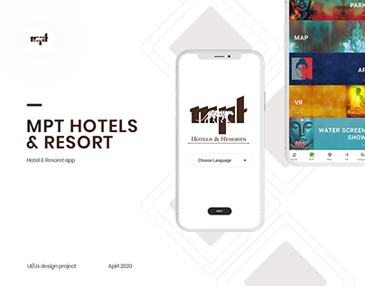 MPT Hotels & Resorts app :: Mobile app Design