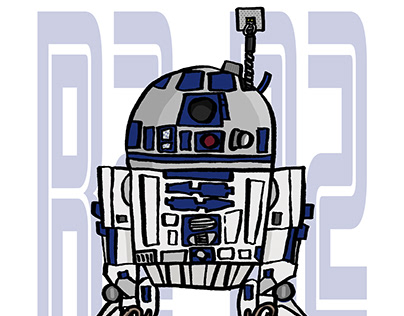 R2-D2 ILLUSTRATION