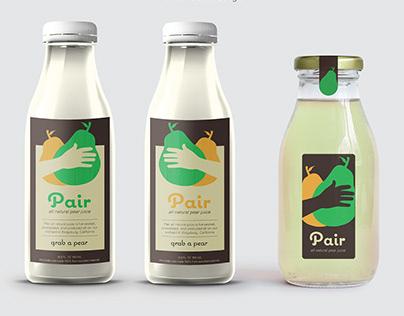 Logo Design for Pear Juice Packaging