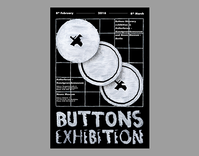 BUTTONS EXHIBITION POSTER