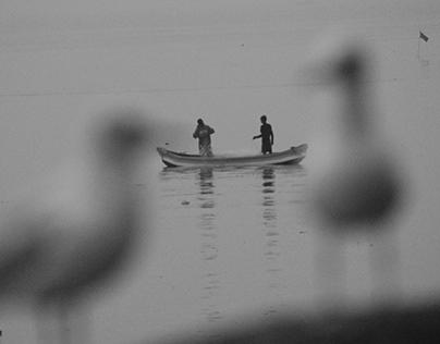 Photographs of a Mumbai Morning Beach.