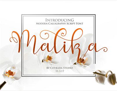 Malika Font Script