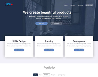 Super Plus - One Page Personal Portfolio Template