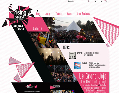 Rising Festival - Website project