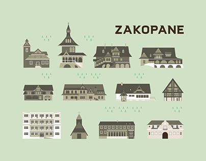 Map of Zakopane { Illustration