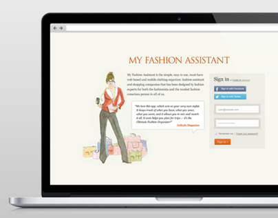 My Fashion Assistant Web Application