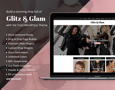 Glitz & Glam eCommerce Shop Web Design