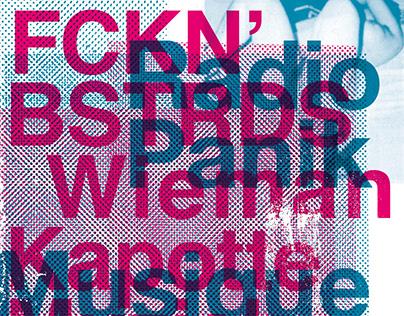 Zeefdruk Kapotte Muziek / Radio Panik — Ateliers Claus