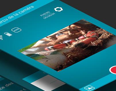 Qilive Sport Camera UI App design