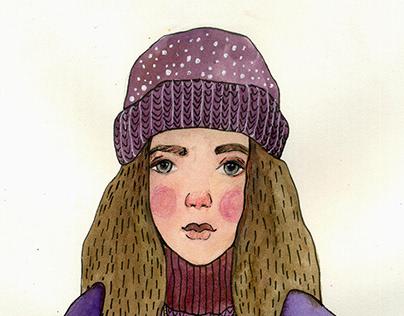 watercolor portrait sketches