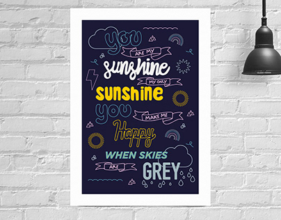 Illustration: Lyric posters