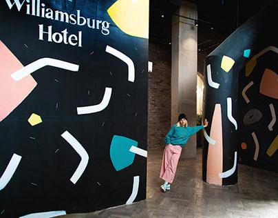 Mural at Willamsburg Hotel NYC