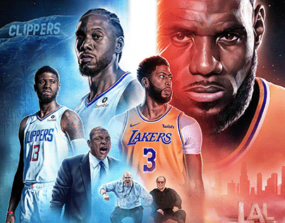 ESPN NBA Lakers x Clippers Christmas Day Movie Poster