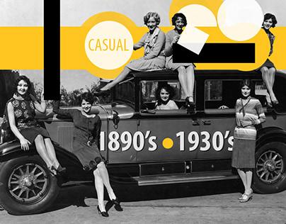 Women's casual wear, 1890's – 1930's.