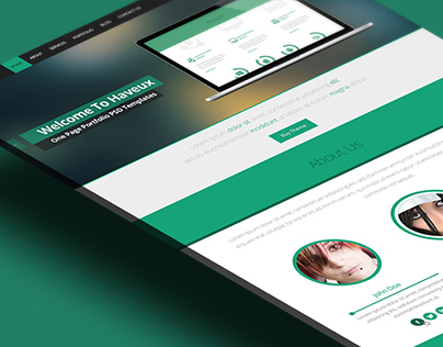 HAVEUX - One Page Portfolio PSD Template
