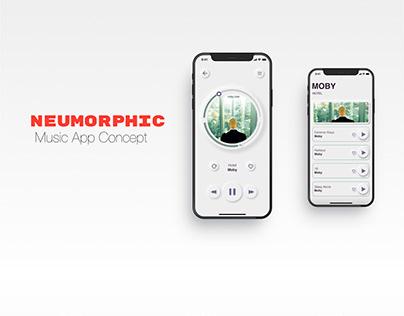 Neumorphic Music App Concept