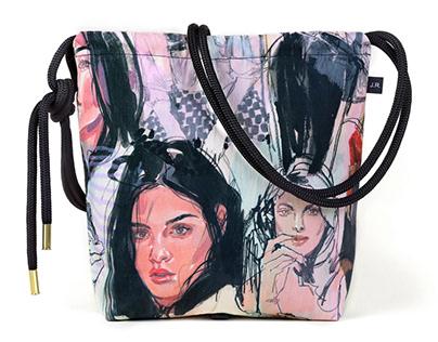 Handmade + Custom-Printed Canvas Bags