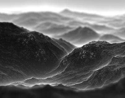Procedural Landscapes: Black and white