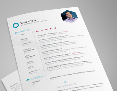 Resume vita on behance for Freelancer jobs dusseldorf