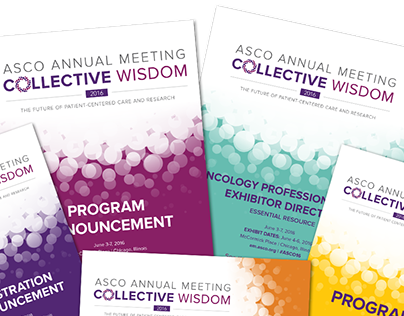 2016 ASCO Annual Meeting brochure covers