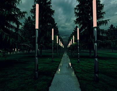 The park. Small architectural forms
