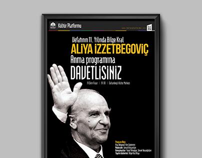 Sultanbeyli Belediyesi Aliya İzzetbegoviç Posteri