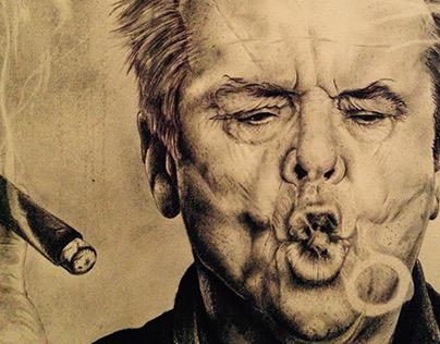 Jack Nickolson Pencil Drawing