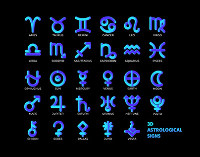 Free Astrological Sign Icons