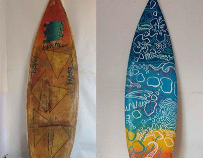 Tabla de Surf intervenida