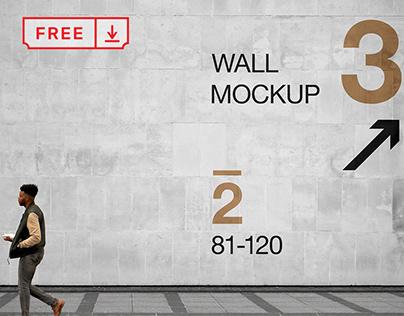 Free Wall PSD Mockup
