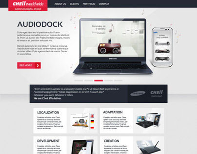Cheil Digtal Studio website