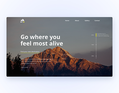 Landing page for a public mountain resort complex