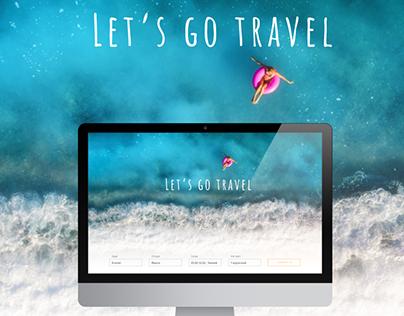Веб-дизайн для сайта туристической компании