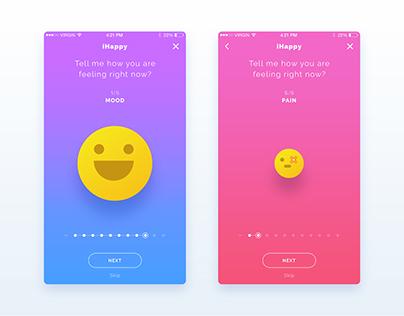 iHappy | iOS App UI/UX Design