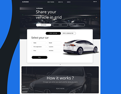 Vehicle Sharing Service Web Portal
