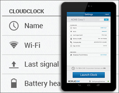 CloudClock for Android Tablet - Gen 3 Admin Interface