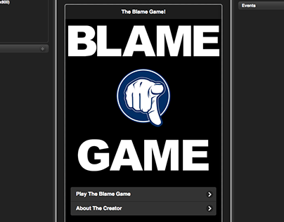 The Blame Game App