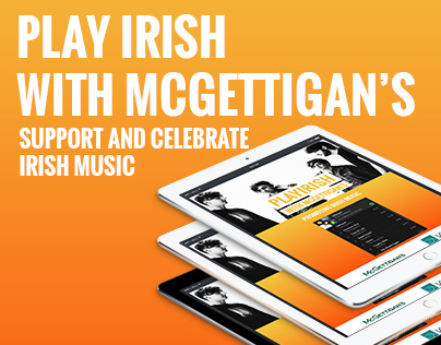 Play Irish With McGettigan's Landing Page