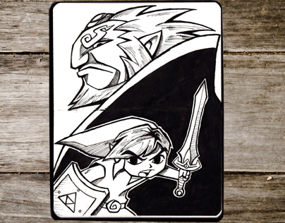 Legend of Zelda moleskine sketch