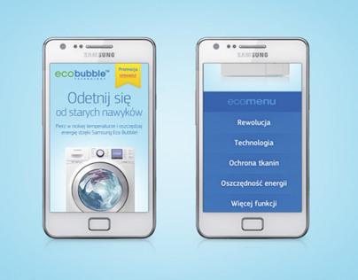 Ecobubble Mobile Website