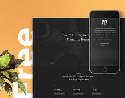 Fusion – Free Portfolio Template (HTML5)