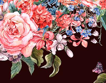 Gentle Vintage Floral Greeting Card